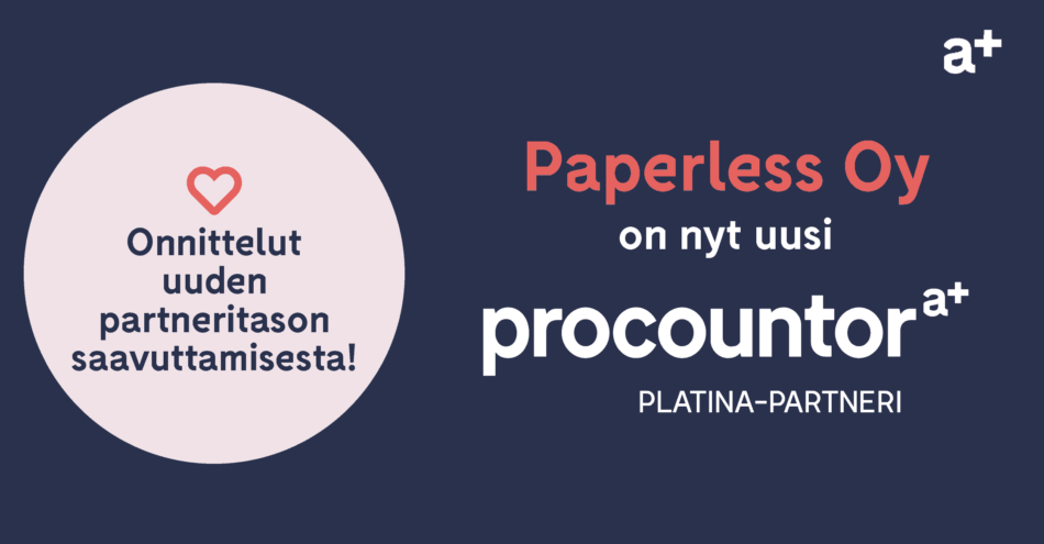 Procountor Platina-partneri: Paperless Oy