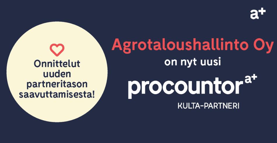 Procountor Kulta-partneri: Agrotaloushallinto Oy