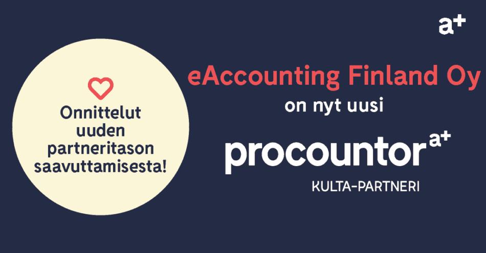 Procountor Kulta-partneri: eAccounting Finland Oy