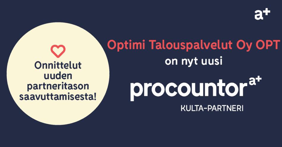 Procountor Kulta-partneri: Optimi Talouspalvelut Oy OPT