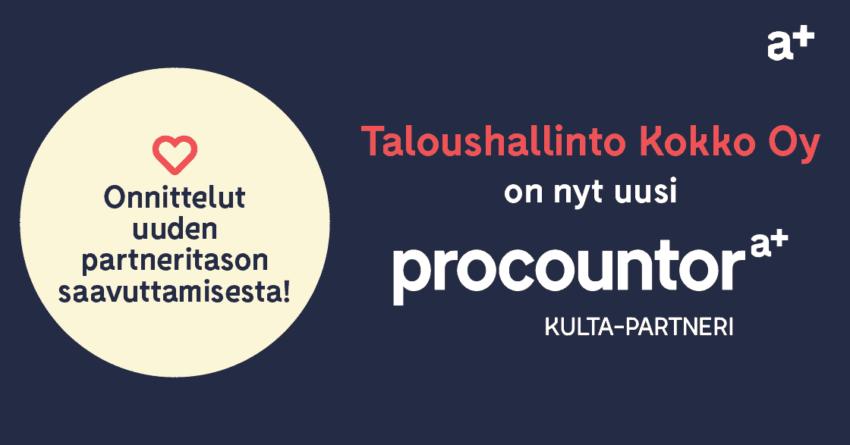 Procountor Kulta-partneri: Taloushallinto Kokko Oy