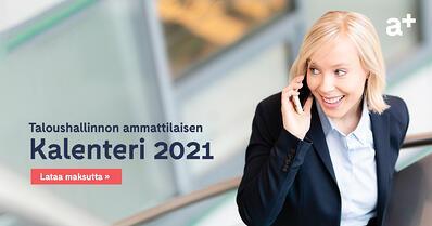 Accountor Finago opas: Taloushallinnon ammattilaisen kalenteri 2021