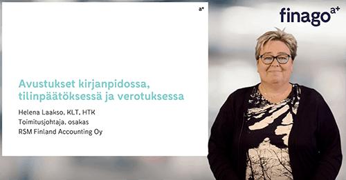 Accountor Finago webinaaritallenne: Avustukset kirjanpidossa, tilinpäätöksessä ja verotuksessa