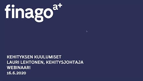 Accountor Finago webinaaritallenne: Kehityksen kuulumiset