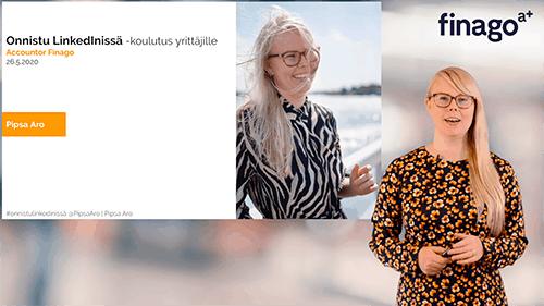 Accountor Finago webinaaritallenne: Parhaat LinkedIn-vinkit yrittäjälle ja miksi henkilöbrändäys kannattaa