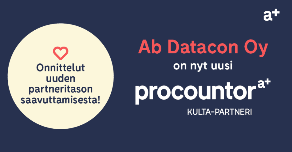 Procountor Kulta-partneri: Ab Datacon Oy