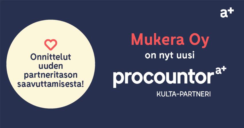 Procountor Kulta-partneri: Mukera Oy