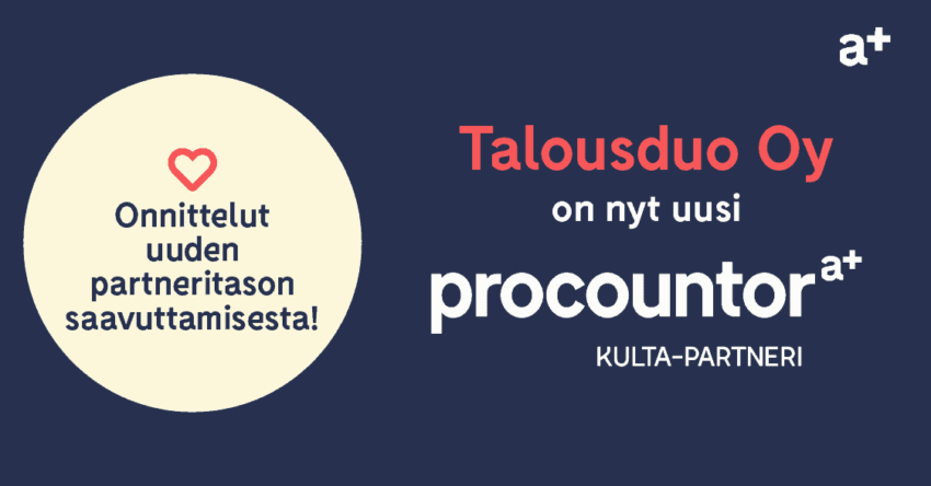 Procountor Kulta-partneri: Talousduo Oy