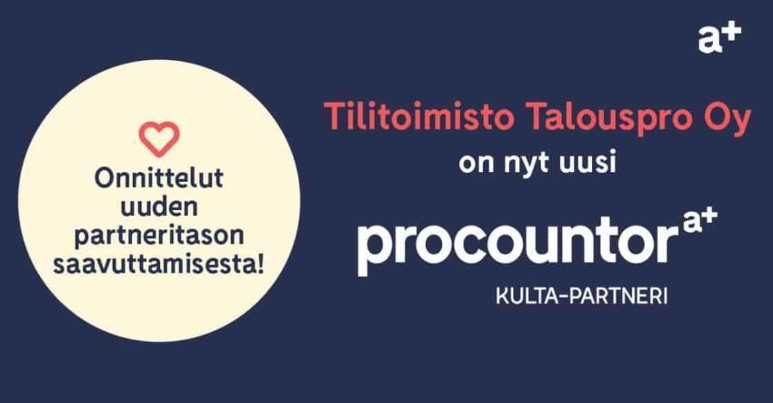 Procountor Kulta-partneri: Talouspro Oy