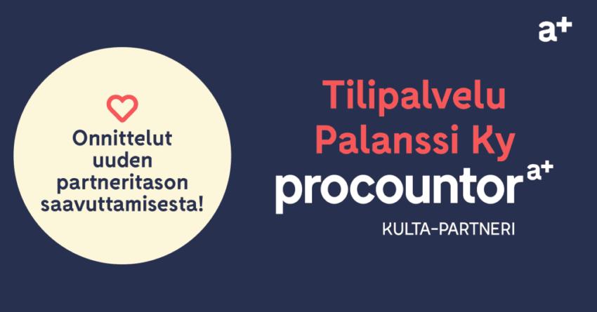 Procountor Kulta-partneri: Tilipalvelu Palanssi ky