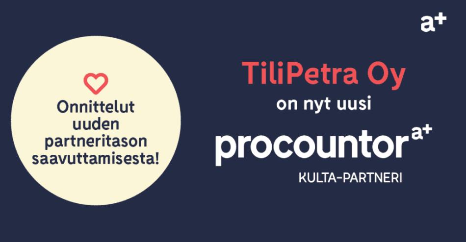 Procountor Kulta-partneri: TiliPetra Oy
