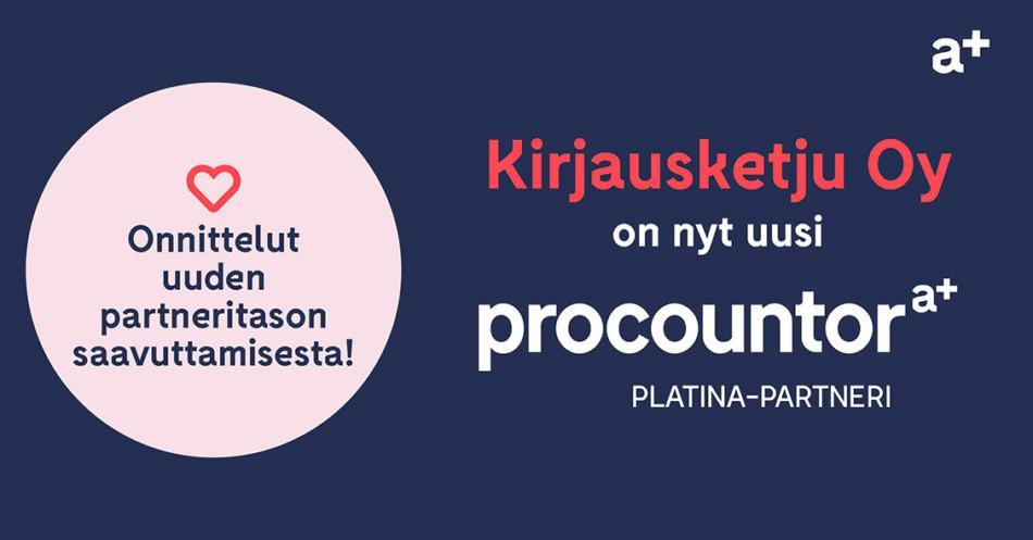 Procountor Platina-partneri: Kirjausketju Oy