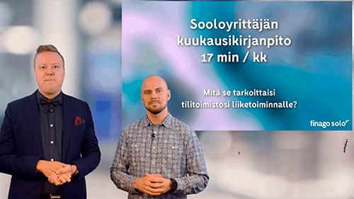 Accountor Finago webinaaritallenne: Sooloyrittäjän kuukausikirjanpito 17min/kk – kannattavasti! Miten?