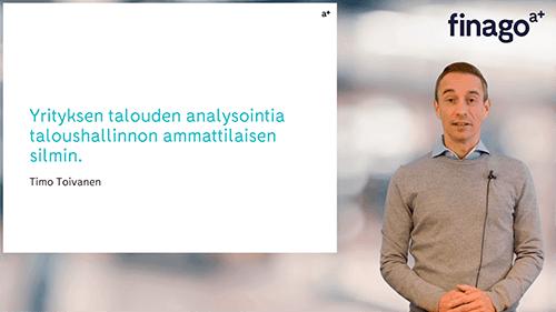 Accountor Finago webinaaritallenne: Yrityksen talouden analysointia taloushallinnon ammattilaisen silmin