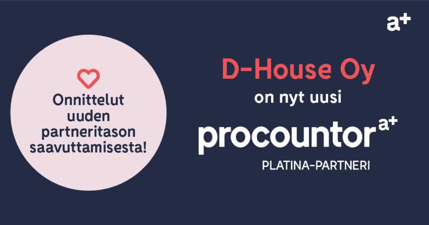 Procountor Platina-partneri: D-House Oy